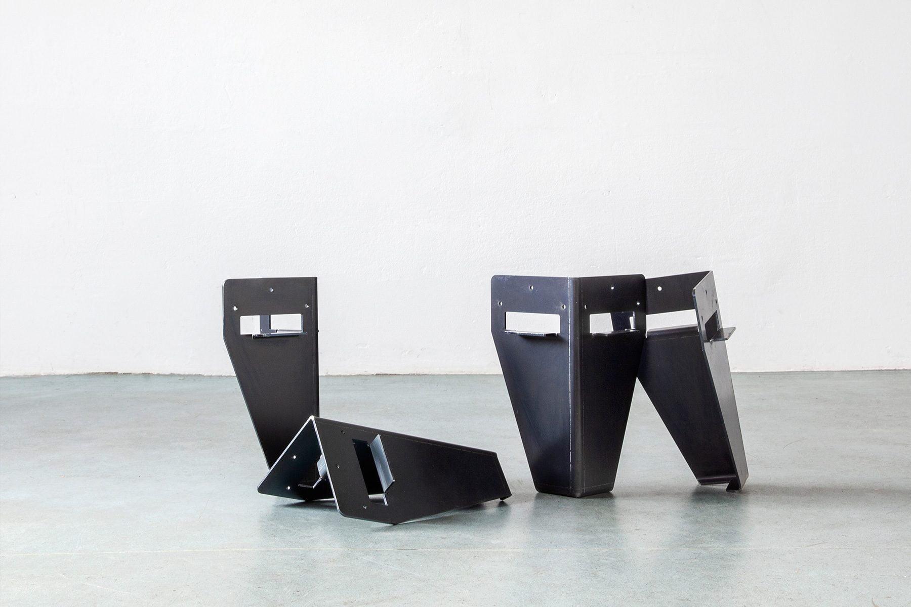 UpCycle Berlin Set Bettbeine aus Stahl als Selbstbausatz DIY